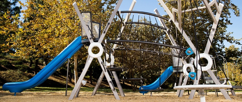 Modern City Playground Design for Suburban Green Space
