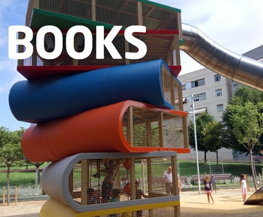 Books Shaped Metal Playground Structures