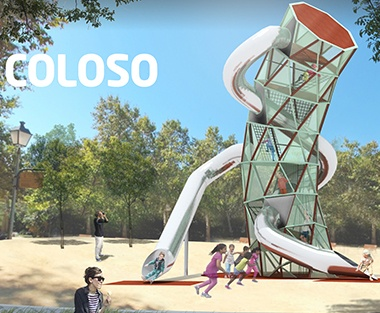 Coloso Shaped Metal Playground Structures