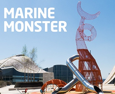 Marine Monster Shaped Metal Playground Structures