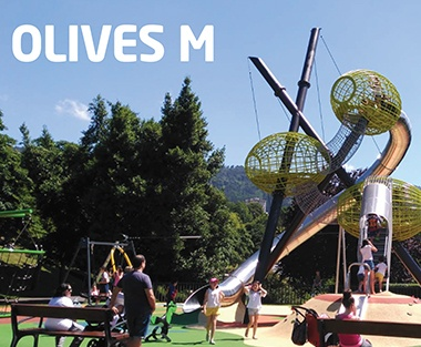 Olives Shaped Metal Playground Structures