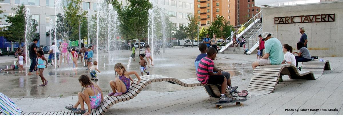 Fountains for a public park
