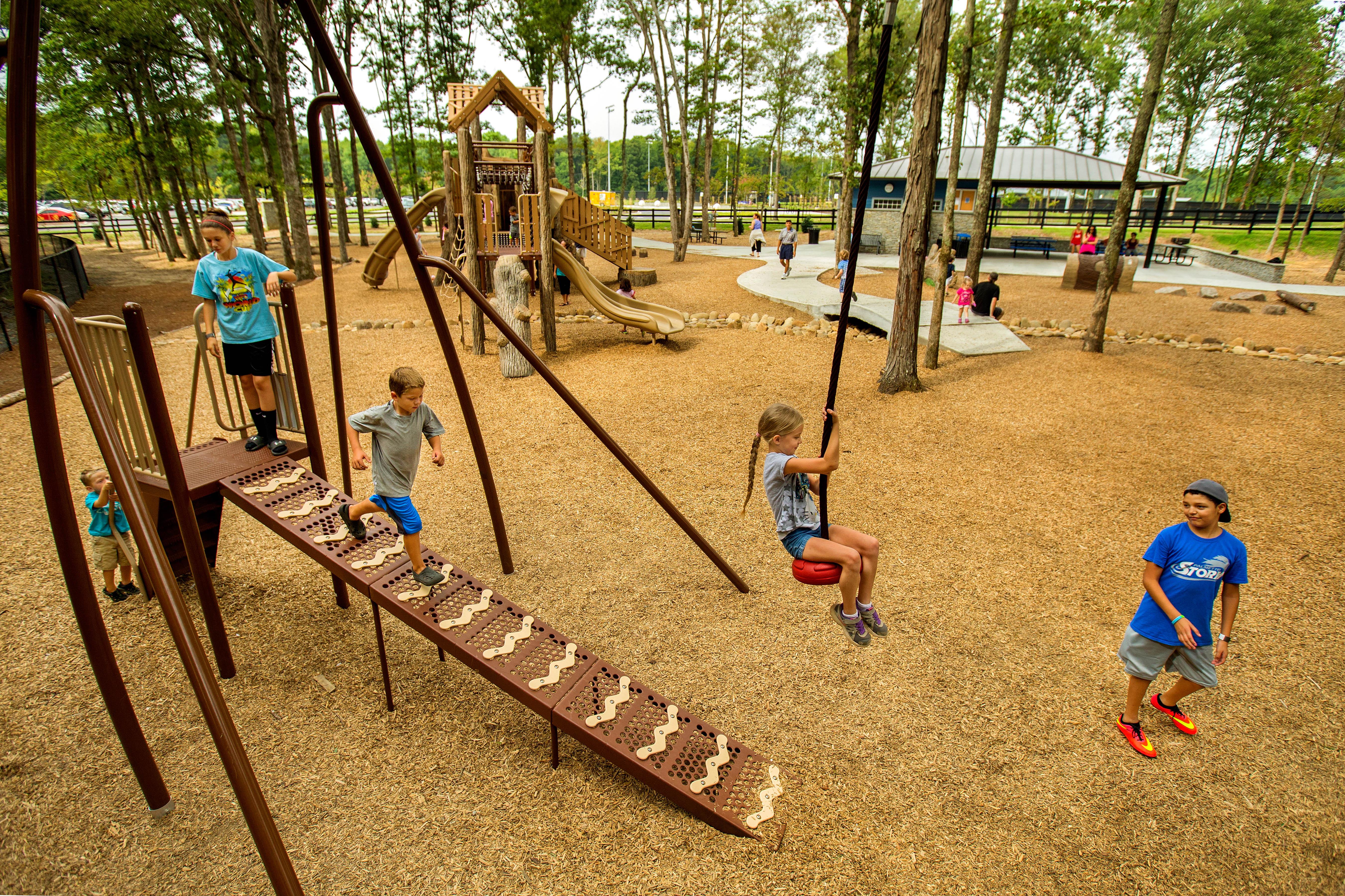 custom playground equipment with nature theme