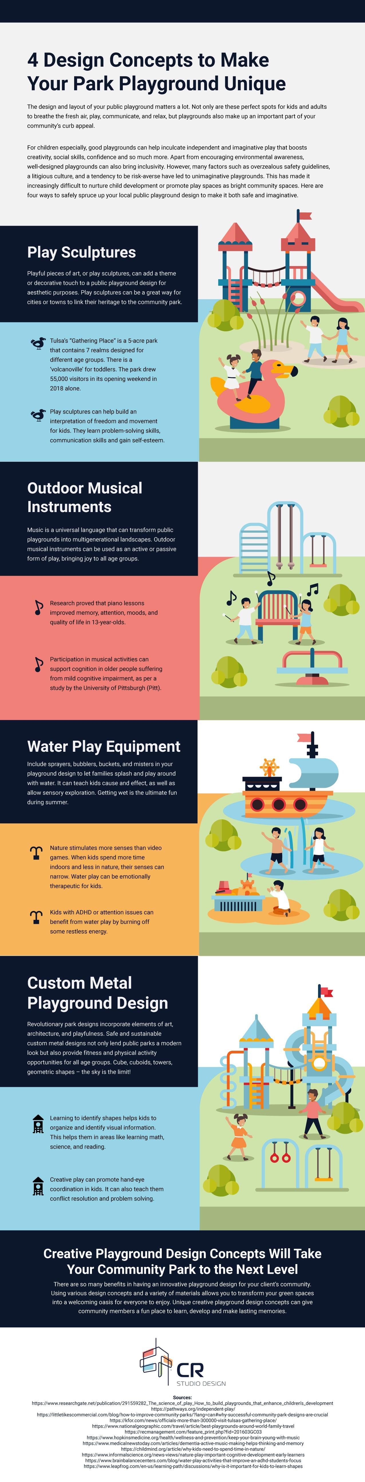 4 Design Concepts to Make Your Park Playground Unique