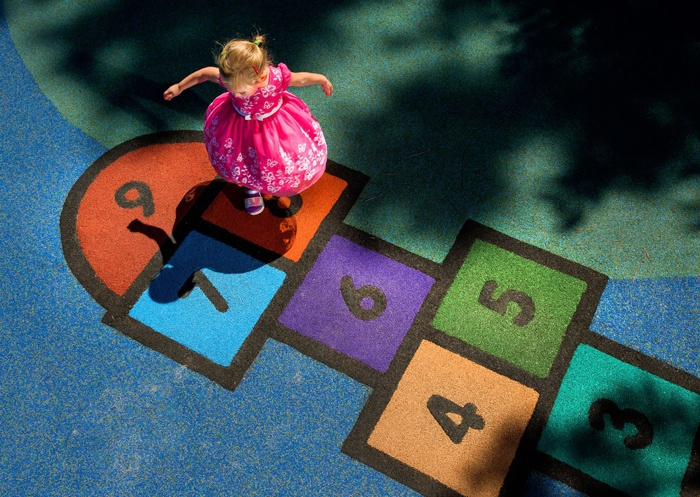 Commercial Playground Design - Poured in Place Hopscotch